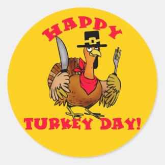 Happy Turkey Day T shirts, Hoodies, Sweats Classic Round Sticker