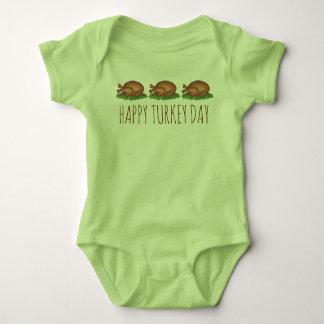 Happy Turkey Day Thanksgiving Dinner Holiday Baby Bodysuit