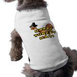 Happy Turkey Day Thanksgiving Sleeveless Dog Shirt