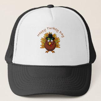 Happy Turkey Day Thanksgiving T Shirt Trucker Hat