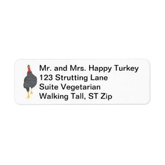 Happy Turkey Pointillism Address Labels
