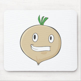 Happy Turnip Vegetable Smiling Mousepad
