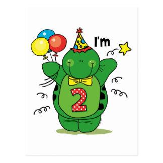 Happy Turtle 2nd Birthday Postcard