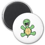Happy Turtle 6 Cm Round Magnet