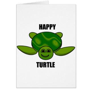 Happy turtle greeting card