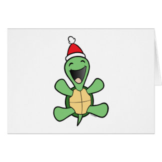 Happy Turtle Christmas Card