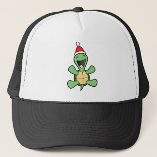 Happy Turtle Christmas Trucker Hat