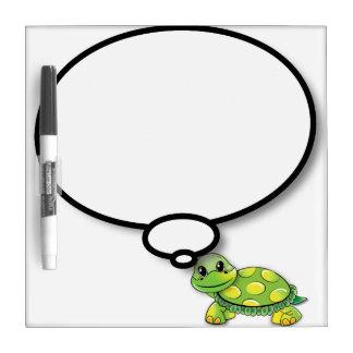 Happy turtle comic balloon dry erase board