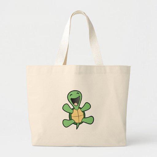 Happy Turtle Jumbo Tote Bag