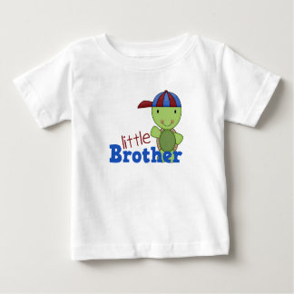 Happy Turtle Little Brother Baby T-Shirt