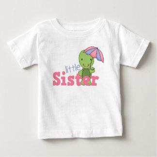 Happy Turtle Little Sister Baby T-Shirt