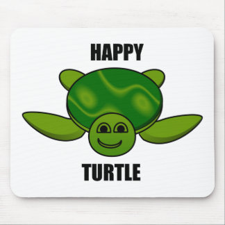 Happy turtle mouse pad