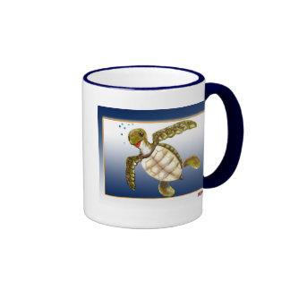 Happy Turtle Ringer Mug