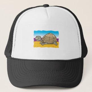 happy turtle on the beach trucker hat