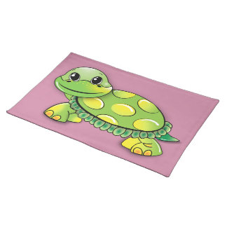 Happy turtle placemat