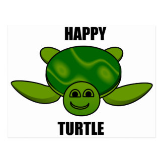 Happy turtle postcard