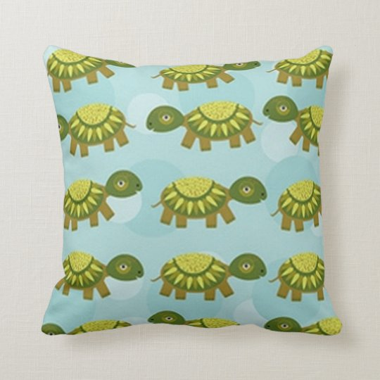 Happy Turtle Throw Pillow