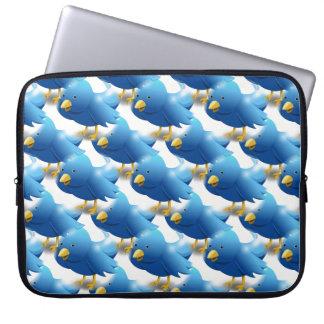 Happy Tweeting Twitter Icon Laptop Sleeve