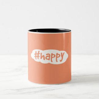 #happy Two-Tone coffee mug