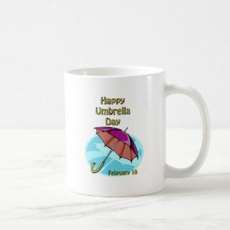 Happy Umbrella Day February 10 Basic White Mug