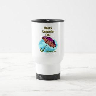 Happy Umbrella Day February 10 Stainless Steel Travel Mug