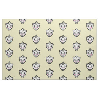 Happy Unicorn Emoji Yellow Fabric