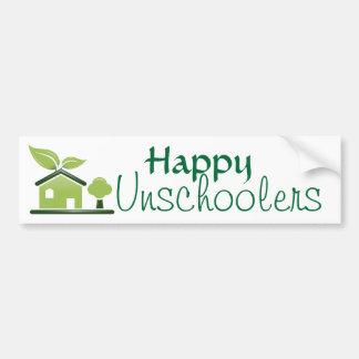 Happy Unschoolers Bumper Sticker