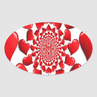 Happy Valentine Big Red Hearts Sticker