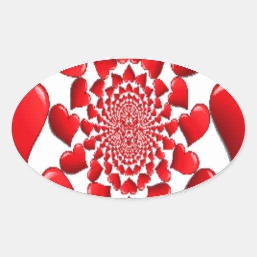 Happy Valentine Big Red Hearts Sticker