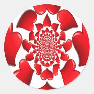 Happy Valentine Big Red Hearts Stickers