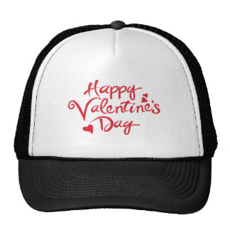Happy valentine trucker hat