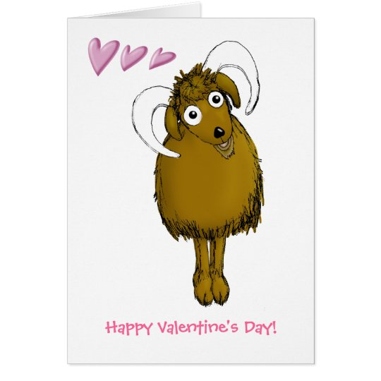 Happy Valentine Old Goat Card