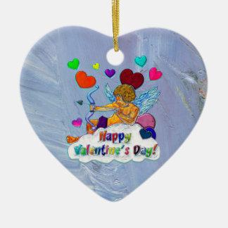Happy Valentine s Day Ceramic Heart Decoration