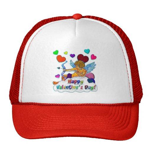 Happy Valentine s Day Mesh Hats