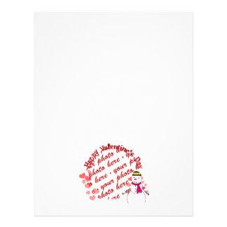Happy Valentine s Day Snowy Sweetheart Girl Flyer