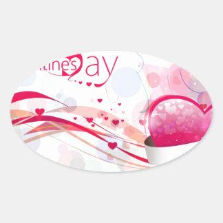 Happy Valentine s Day Oval Sticker