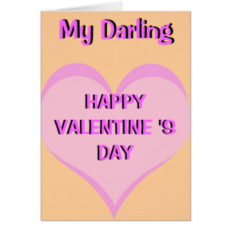 HAPPY VALENTINE 'SDAY... GREETING CARD