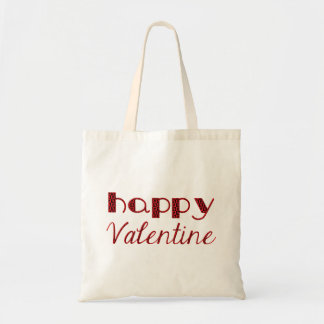 Happy Valentine Typography Red Cupid Text