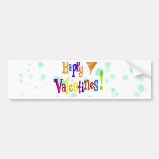 happy valentines bumper sticker