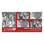 Happy Valentines Day - 5 photo collage Photo Card Template