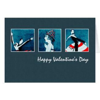 Happy Valentine's Day. Art Deco Greeting Cards