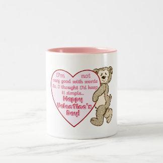 Happy Valentine's Day Bear with Heart Mug