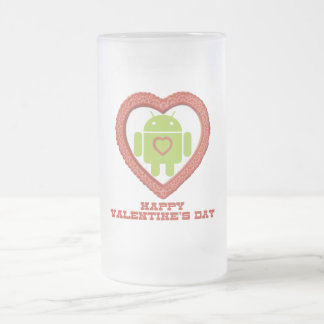 Happy Valentine's Day (Bug Droid Two Hearts) Mugs