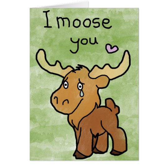 Happy Valentines Day Card - I Moose You