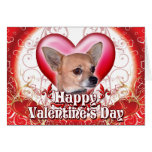 Happy Valentines Day Chihuahua Greeting Card