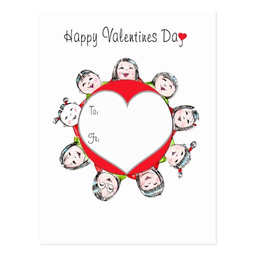 Happy Valentines Day circle! Postcard