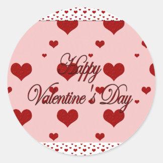 Happy Valentines Day Classic Round Sticker
