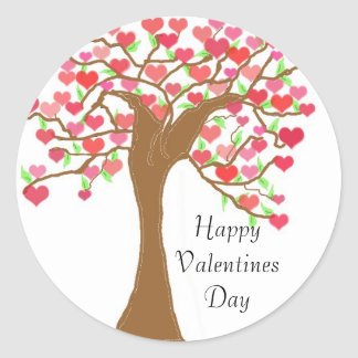 Happy Valentines Day Classic Round Sticker