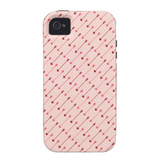 Happy Valentine's Day Cupid's Arrows Pink Red Vibe iPhone 4 Covers