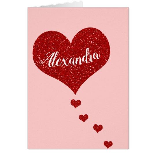Happy Valentine's Day Custom Name Card